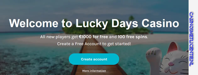 Lucky Days casino bonus